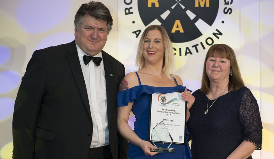 Re-flow has won an innovation award at Roadmarking Live 2017