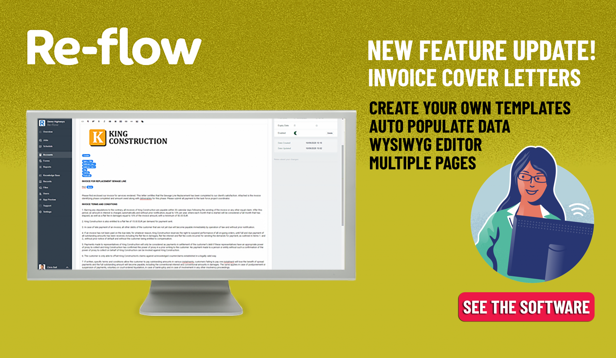 New Feature Update- Invoice Cover Letters