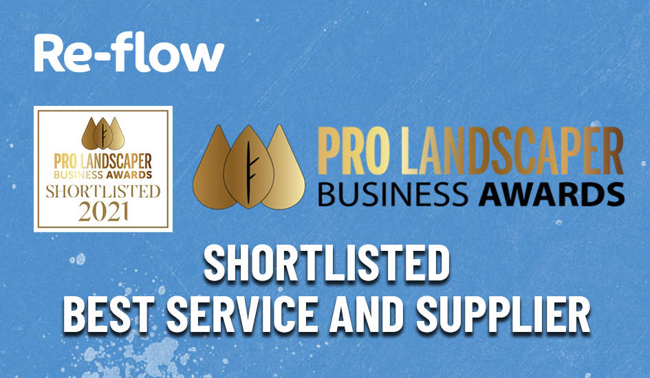 Re-flow shortlisted for Prolandscaper Business Award